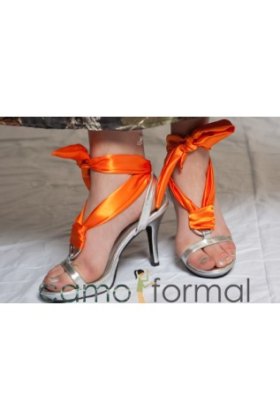Celine 279 in Silver with Orange Laceup