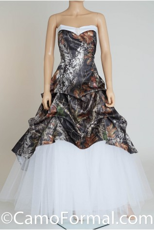 Shown in Realtree APG and White Satin