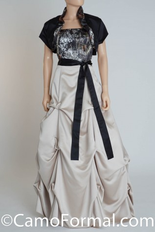 Strapless Top with attached Pickup Skirt