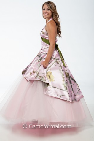 Side View: AP PINK and OLIVINO - 3659M dress over Circle Net Skirt