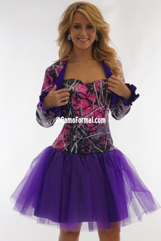 Muddy Girl Bolero with Majestic Purple contrast ruffle trim