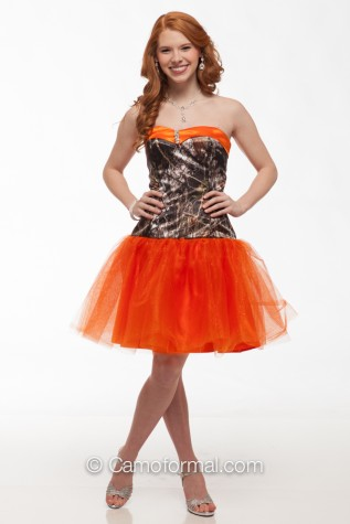 3660gn Glitter Net Short Camo Camouflage Prom Wedding Homecoming Formals