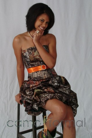 3980 with orange sash and rhinestone buckle
