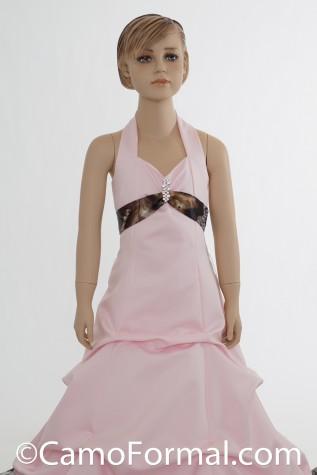 Camo and Satin Miniature Bride Dress