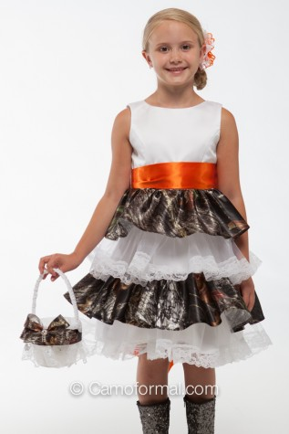 "5601 ""Lacey"" Ruffle and Lace Flower-girl dress - Girls Exteme Bow sold separately"