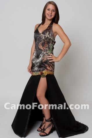Camo attire for pageant or other formal event. Style 6338