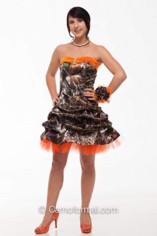 """7621 Sweetheart """"V"""" Short Pickup Dress with Net"""