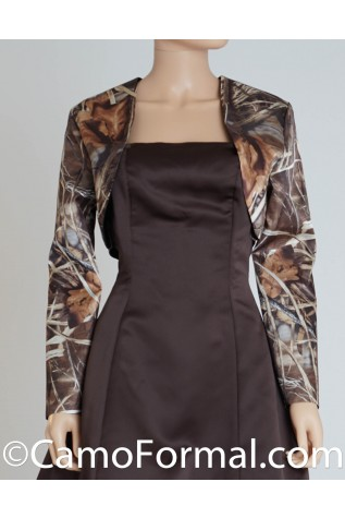 Long Sleeve Camo Bolero Jacket
