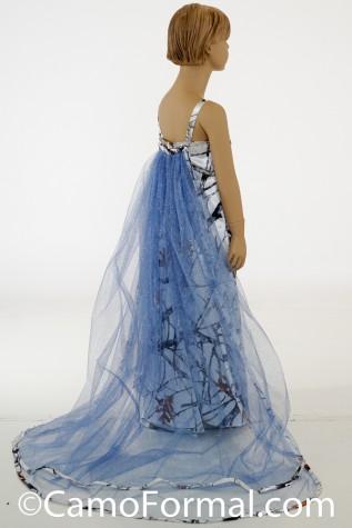 "Side Back: 8072 ""Ella"" girls Frozen Princess Dress"