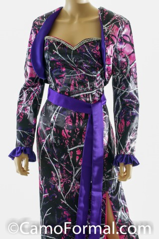 Contrast Bolero and 2 X 90 Sash Muddy Girl and Majestic Purple