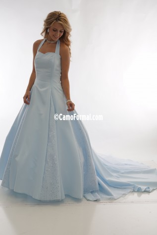 8890 Ice Blue with Glitter Net Godets