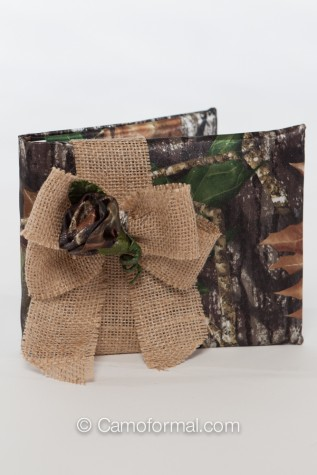Guest Book Mossy Oak with Burlap Bow
