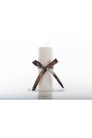 Unity Candle with Camo Ribbon