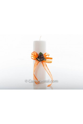 Unity Candle with Floral Ribbon