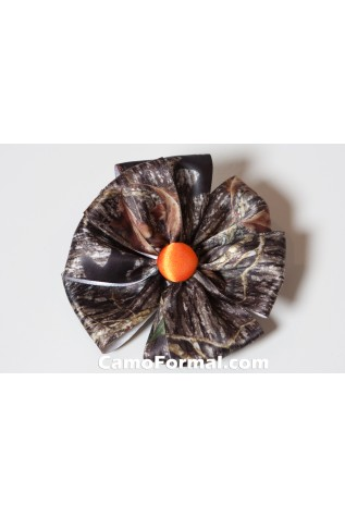 Camo Hair Bow with button center