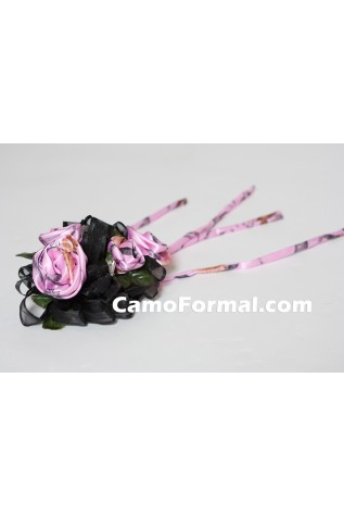 4 Roses Corsage in PINK Snowfall