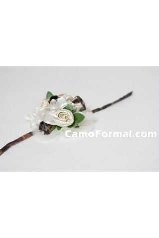 Rose and Brocade Corsage