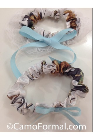 Mossy Oak WINTER with Light Blue Ribbon