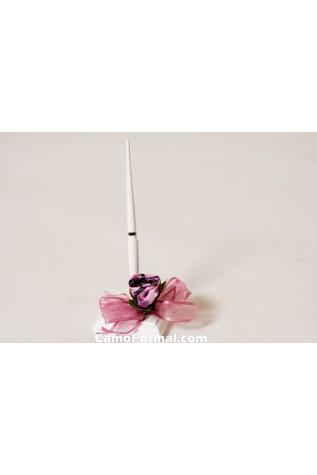 Camo Roses Pen in Pink Snowfall