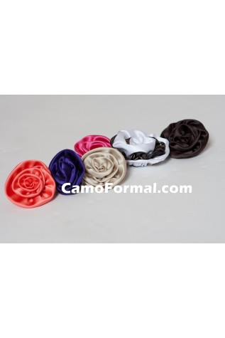 Assorted colors of fabric roses