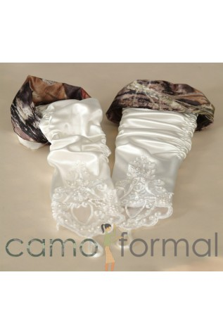 Gloves Fingerless with Camo Trim