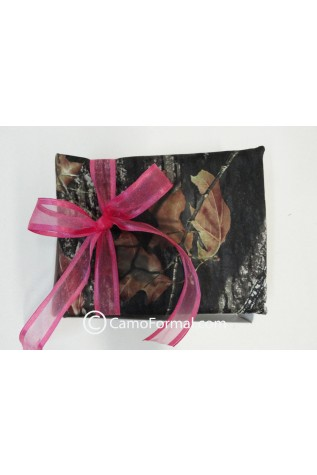 Camo Guest Book with Fushia Ribbon