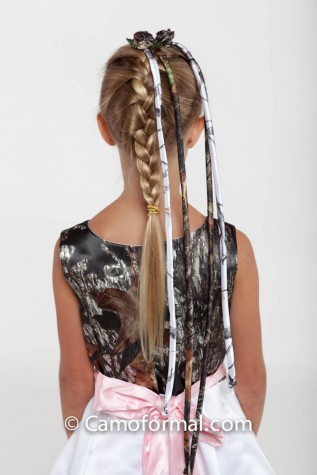 Camo hair Braid Ribbon