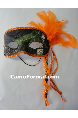 Masquerade Mask Camo and Orange