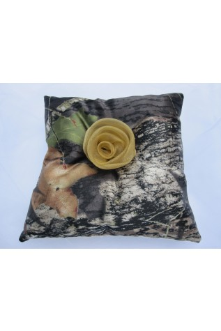 Ringbearer pillow with Gold Rose