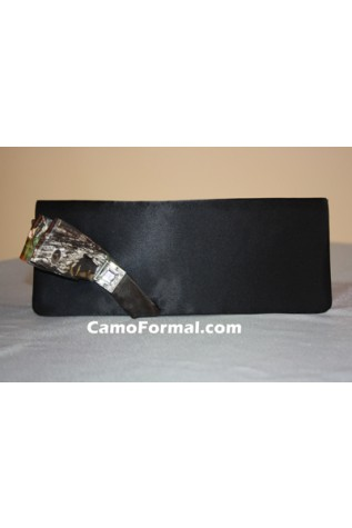 B711 Heather purse with Camo Accent Ribbon