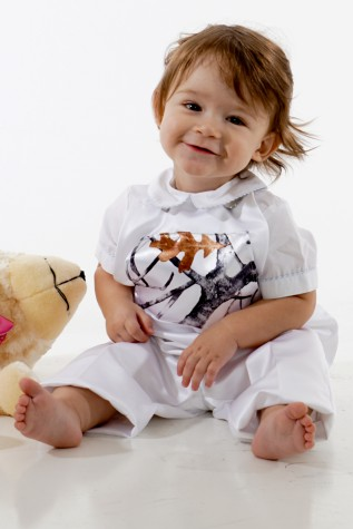 Baby to 24 months - White Satin Overall Pants or Shorts