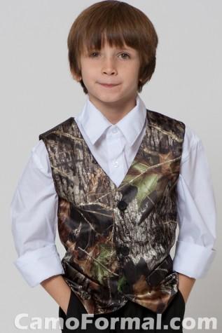 Boys Camo Vest in Mossy Oak New Breakup