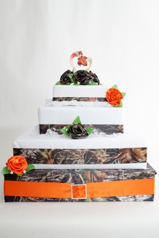 Sample of cakes stacked on CAKE BASE