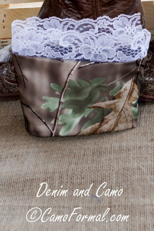 Denim and Camo Reversible Boot Cuff