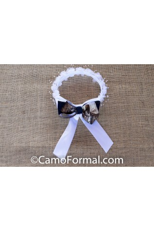 Denim and Camo Hair Wreath