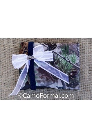 Camo Guest Book with Guns and Roses Charm
