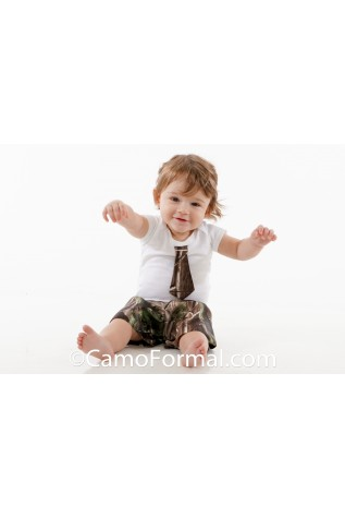 Baby Onsie Shorts and Tie Set