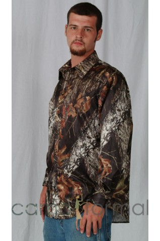 Men's Camouflage Satin Dress Shirt
