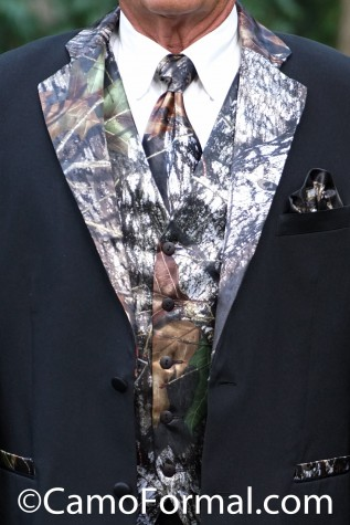 Vest, Long Tie or Bow Tie, Gathered Pocket Square