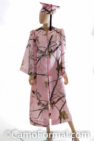 Camo Grad Gown shown in Realtree AP PINK