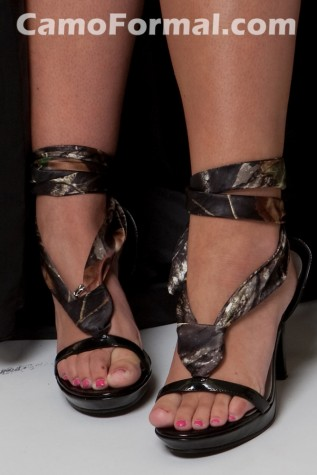 Celine Shoe with Camo Laceup Ribbon
