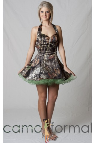 Mini Halter with Curl-edged Tulle under-skirt