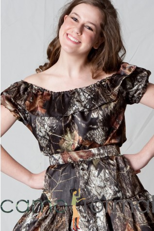 Mossy Oak Camo Square Dancing Peasant Top