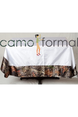 Oblong Camo or Satin Trimmed Edges