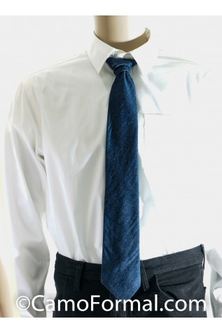 Denim Long Tie