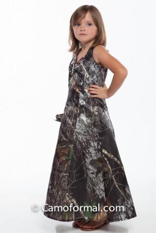 3050 Tea Length Girls Flower-girl Dress