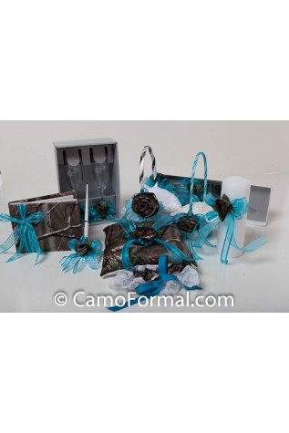 Camo Reception Collection shown in APG and Turquoise and extra TINY basket ordered separately