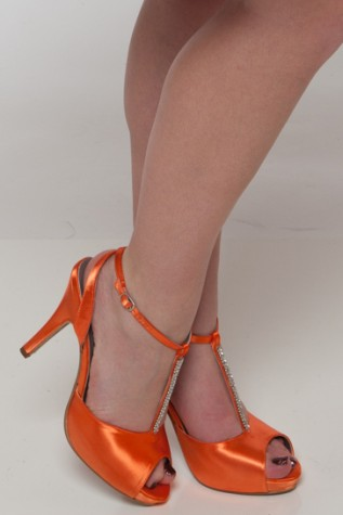 """Emma"" dyed Hunter's Orange - Heel 3 3/4"""