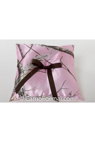 Pillow, Ringbearer in Realtree AP PINK with Mocha Ribbon