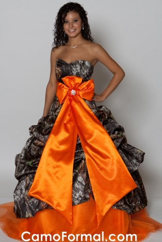 Halter Ball gown with Extreme Camo Bow